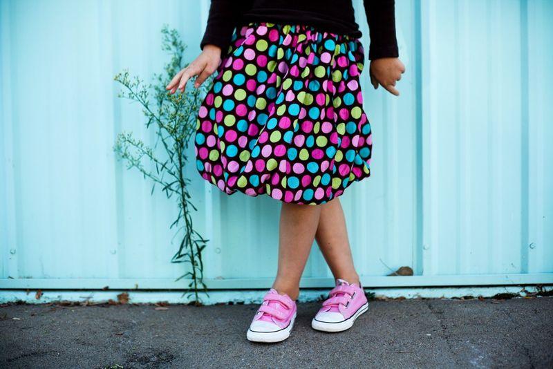 Polka dot bubble skirt