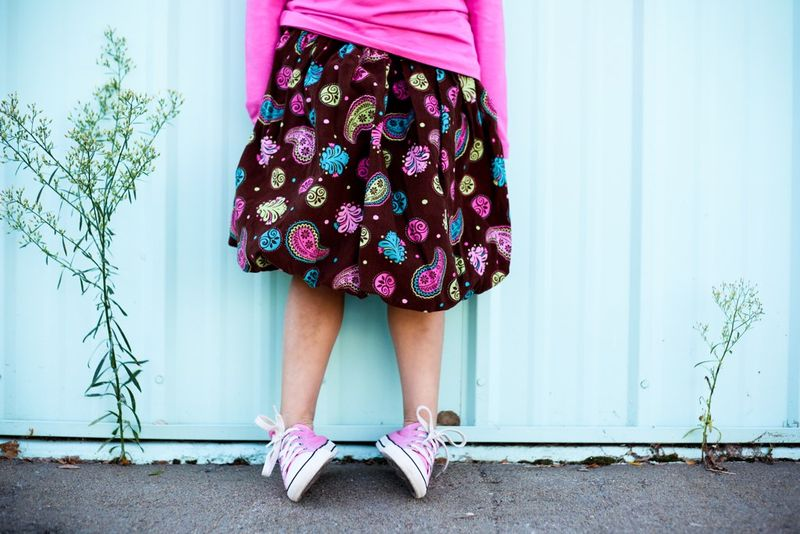Paisley bubble skirt