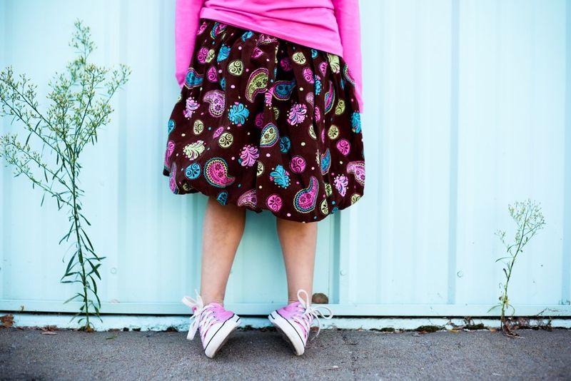 Paisley bubble skirt