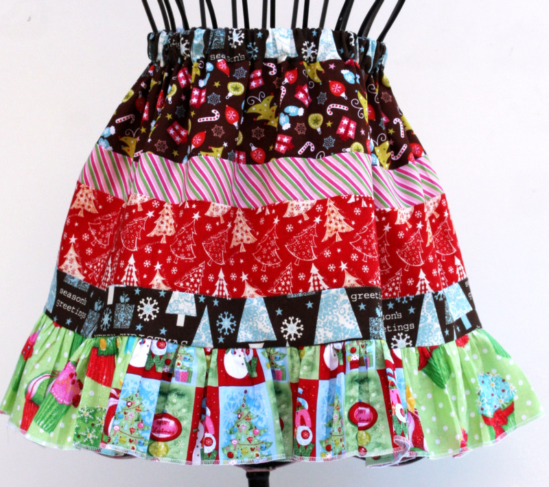 Holiday scrappy skirt 1